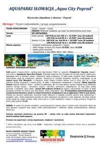 """Wycieczka Słowacja Aqua City Poprad 212x300 - AQUAPARKI SŁOWACJA """"Aqua City Poprad"""""""