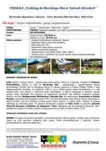 """Wycieczka Morskie Oko Małe Ciche krótka 212x300 - PODHALE """"Trekking do Morskiego Oka w Tatrach Wysokich"""""""