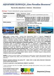 """Wycieczka Słowacja Termalpark Besenova 212x300 - AQUAPARKI SŁOWACJA """"Gino Paradise Besenova"""""""