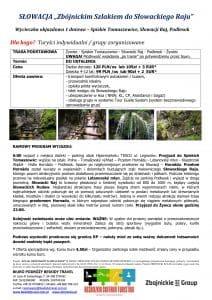 """Wycieczka Spiskie Tomaszowice Słowacki Raj 212x300 - SŁOWACJA """"Zbójnickim Szlakiem do Słowackiego Raju"""""""