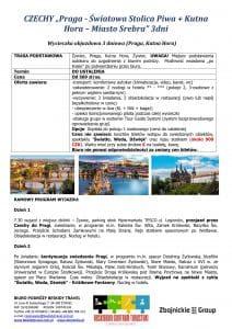 """Wycieczka Czechy Praga Kutna Hora 3 dni doc1 212x300 - CZECHY """"Praga - Światowa Stolica Piwa + Kutna Hora – Miasto Srebra"""""""