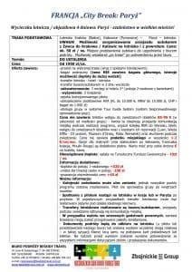 """Wycieczka Francja City Break Paryż 4 dni doc1 212x300 - FRANCJA """"City Break: Paryż"""""""