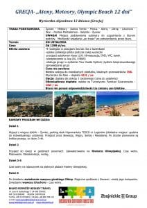 """Wycieczka Grecja Ateny Meteory Olympic Beach 12 dni doc1 212x300 - GRECJA- """"Ateny, Meteory, Olympic Beach"""""""