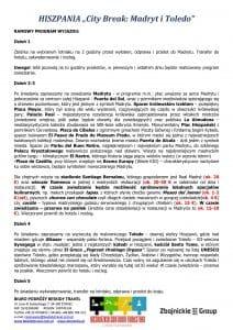 """Wycieczka Hiszpania City Break Madryt Toledo 5 dni doc2 212x300 - HISZPANIA """"City Break: Madryt i Toledo"""""""