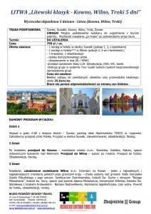 """Wycieczka Litwa Kowno Wilno Troki 5 dni doc1 212x300 - LITWA """"Litewski klasyk - Kowno, Wilno, Troki"""""""