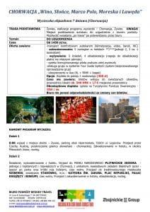 """Wycieczka objazdowa Chorwacja 7 dni 1 212x300 - CHORWACJA """"Wino, Słońce, Marco Polo, Moreska i Lawęda"""""""