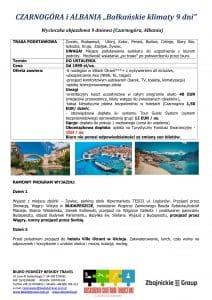 """Wycieczka objazdowa Czarnogóra Albania 9 dni doc1 212x300 - CZARNOGÓRA i ALBANIA """"Bałkańskie klimaty"""""""