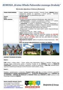 """Wycieczka objazdowa Rumunia 8 dni 1 212x300 - RUMUNIA """"Kraina Włada Palownika zwanego Drakulą"""""""
