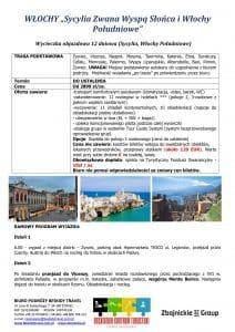 """Wycieczka Sycylia Włochy Południowe 12 dni doc1 212x300 - WŁOCHY """"Sycylia Zwana Wyspą Słońca i Włochy Południowe"""""""