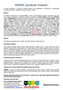 """Wycieczka Włochy City Break Toskania 5 dni doc3 212x300 - WŁOCHY """"City Break: Toskania"""""""