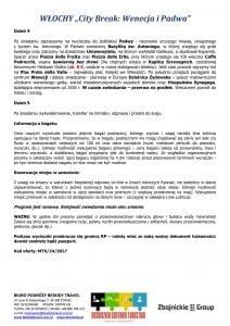 """Wycieczka Włochy City Break Wenecja Padwa 5 dni doc3 212x300 - WŁOCHY """"City Break: Wenecja i Padwa"""""""
