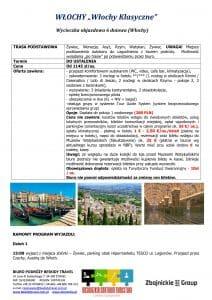 Wycieczka objazdowa Włochy Klasyczne 6 dni doc1 212x300 - WŁOCHY