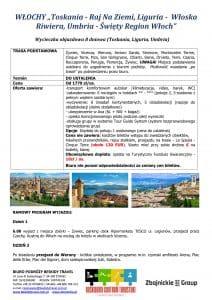 """Wycieczka objazdowa Włochy Toskania Liguria Umbria 8 dni doc1 212x300 - WŁOCHY """"Toskania - Raj Na Ziemi, Liguria - Włoska Riwiera, Umbria - Święty Region Włoch"""""""