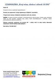 """Wycieczka pobytowo objazdowa Czarnogóra 10 dni 3 212x300 - CZARNOGÓRA """"Kraj wina, słońca i oliwek"""""""